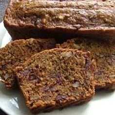 An easy and quick date nut loaf served with a warm brown sugar sauce.