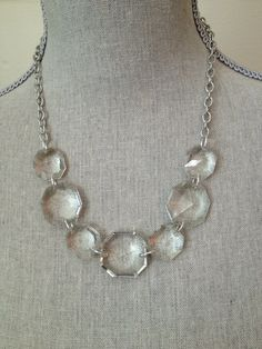 Our chandelier crystal necklace is the perfect length to wear on ...