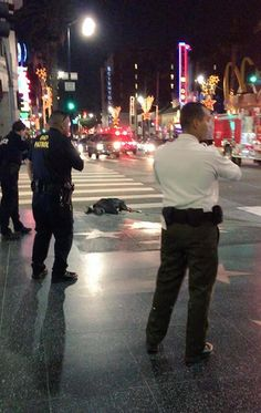 fullpraxisnow:    [TW: Graphic Photo] LAPD Shoots and Kills Man at Site of Protests Against Police Murder Less than 24 Hours Later | The Free Thought Project  Not even 24 hours after solidarity die-ins for Eric Garner wrapped up on the corner of Hollywood and Highland the Los Angeles Police Department has repeatedly shot a man reportedly in the head on the exact same corner. The incident occurred shortly before 7pm on Friday evening.  (Read Full Text)  OK I think I may stand down today…