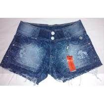 Lindo Short Jeans Curto Desfiado Trabalhado  Handara