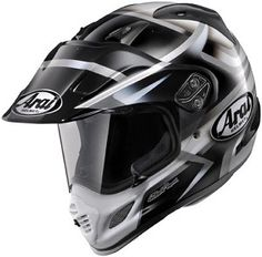 Arai XD-4 Diamante Black Graphic Motorcycle Adventure Dual Sport Helmet.