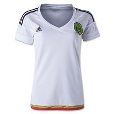 Replica cheap discount wholesale 2015 Mexico Soccer Team Away White Women s  jersey 405eb10b84
