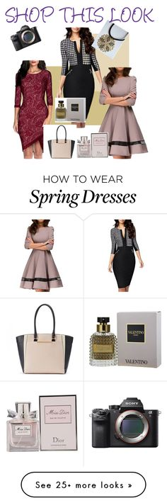 """""""Shop this look"""" by ourdesignpages on Polyvore featuring Miusol, Christian Dior, Sony and Apt. 9"""