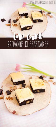 Schnelle Käsekuchen Brownies mit Rezeptvideo www.lowcarbkoestlichkeiten.de
