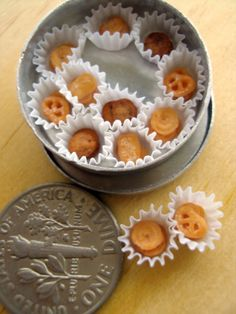 ♥ miniature danish cookies...I love these cookies when they are life size and edible ;)