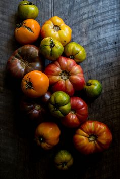 Heirloom tomatoes! They have the best flavors. Try Peoples Co-op, Ocean Beach! Year-round organic flavors throughout the store!