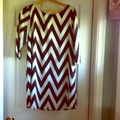 Everly chevron dress Size large Everly black and white chevron dress. Great little dress, does have a small stain near the bottom front(pictured). Dresses