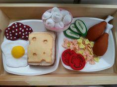 Еда из мягкого корейского фетра. Купить фетр можно в магазине https://www.instagram.com/koreanfetr.ru