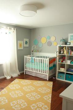 Baby Girl Nursery Room Ideas Color Schemes Polka Dots 15 Ideas For 2019 Baby Bedroom, Baby Boy Rooms, Baby Boy Nurseries, Baby Cribs, Nursery Room, Girl Nursery, Yellow Baby Rooms, Baby Bedding, Boy Nursery Colors