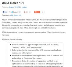 How to use ARIA roles