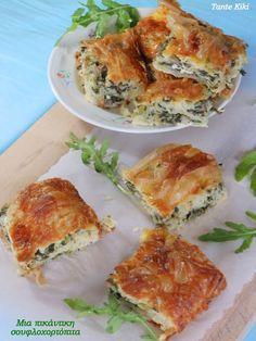 Η πικάντικη χορτόπιτα-σουφλέ της καρδιάς μας Greek Recipes, Pie Recipes, Recipies, Cookie Dough Pie, Greek Pastries, Filo Pastry, Recipe Boards, Soul Food, I Foods