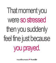 Praying works wonders!