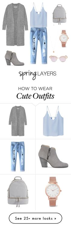 """Looks plain but this is what my ideal spring outfit would look like. I think the cardi really puts the whole outfit together along with the accessories:)"" by jassienguyen on Polyvore featuring MANGO, By Malene Birger, rag & bone, MICHAEL Michael Kors, Larsson & Jennings, Dorothy Perkins, Le Specs, cutecardigan and springlayers"