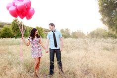 Pink Balloon Engagement Session by Amanda Hendrickson Photography | Utah Bride & Groom