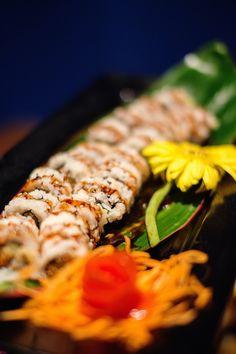 Sushi on bamboo leaf