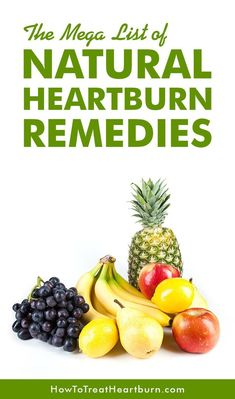 Check out The Mega List for Natural Heartburn Remedies. Food can be used as a natural and healthy remedy for acid reflux, heartburn, and GERD without having to take heartburn medications. How To Treat Heartburn, Natural Cure For Heartburn, Natural Remedies For Heartburn, Holistic Remedies, Natural Cures, Herbal Remedies, Health Remedies, Natural Health, Heartburn Medication