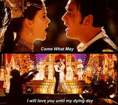 Satine (Nicole Kidman) and Christian (Ewan McGregor) will love each other until their dying day in Moulin Rouge!