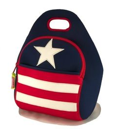 Dabbawalla Bags:  Stars and Stripes Lunch Bag, cool way to show your USA patriotism, and keep your lunch cool too!