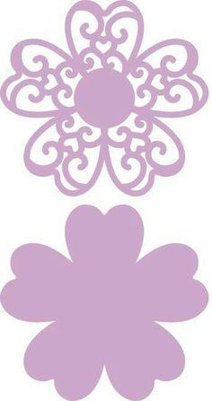 Tissue Paper Flowers, Felt Flowers, Diy Flowers, Cajas Silhouette Cameo, Silhouette Design, Paper Flower Tutorial, Christmas Templates, Flower Template, Flower Wall Decor