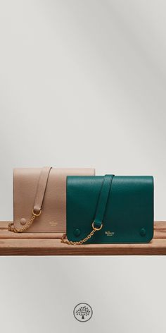 The Clifton is a compact, understated shoulder bag that cleverly camouflages an organiser's paradise underneath its neat exterior. Shop the Rosewater and Ocean Green seasonal coloured Cliftons now on Mulberry.com.