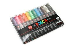 My absolute favorite acrylic paint markers. Uni Posca PC-1M Paint Marker - Extra Fine Point - 12 Color Set - UNI PC1M 12C