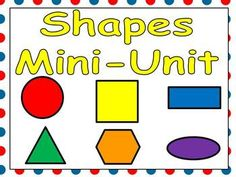 Are you looking for materials to help your students learn about shapes? This unit may be the answer!!     This packet includes practice pages, emergent reader little books, shared reading texts, flash cards, student awards, and classroom posters.    Practice pages include matching shapes, sorting based on shape, graphing shapes, and identifying shapes by coloring according to a code. Many other materials included!! $4