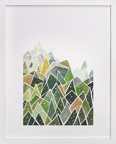 Yao Cheng Design - Landscape of Triangles and Dots Art Print - Yao Cheng for Minted