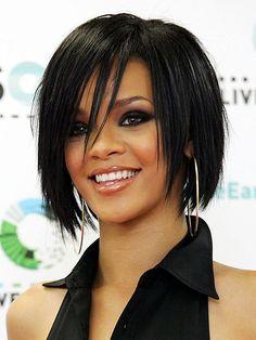6.Élégant Rihanna Bob Coupe de cheveux