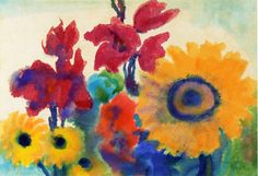 Vibrant Blooming Artwork By Emil Nolde Oil Painting & Art Prints On Canvas For Sale Emil Nolde, African Art Paintings, Paintings Famous, August Macke, Franz Marc, Edvard Munch, Adult Art Classes, Degenerate Art, Local Art Galleries