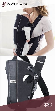 Classic Baby Bjorn carrier Dark navy blue classic Baby Bjorn carrier. Directions printed on inside. Other