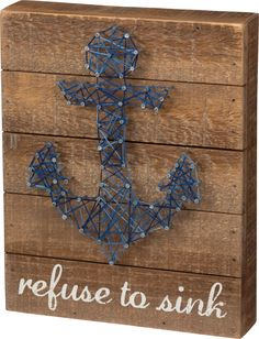 Refuse to Sink Nail Art Made of wood, metal, and string. Measures 8' x 10' IN…