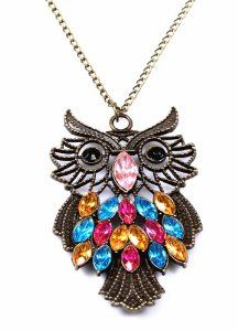 Antique Color Crystal Owl Long Pendant Necklace - Only $2.79 Shipped! http://www.thecafecoupon.com/2015/08/antique-color-crystal-owl-long-pendant.html