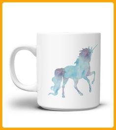 Watercolor Unicorn Mug - Einhorn shirts (*Partner-Link)