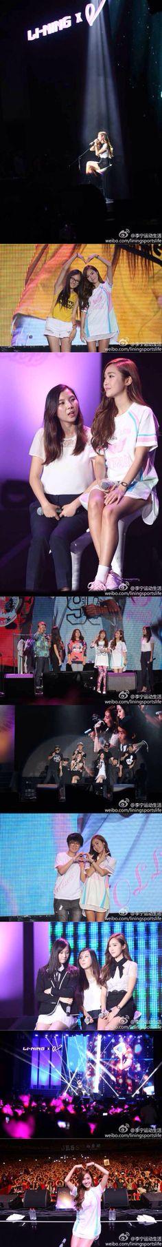 SNSD Jessica in Guangzhou China Lining Fan meeting 06092014