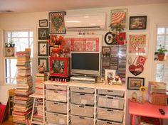 mary englebreit home studio | Mary Engelbreit's home studio. | Dream Craft Room