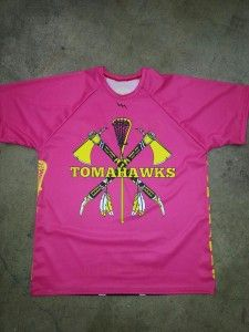 Pink lacrosse shooter shirts for girls from Lightning Wear®.