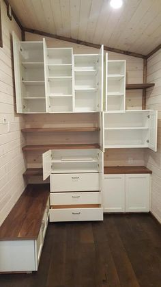 Custom Storage Wall - Warehouse by Alpine Tiny Homes