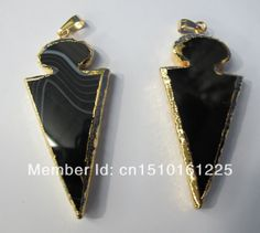 New arrive!!Black agate Gem stone pendant Fit gemstone jewelry Necklace DIY,5pcs/lot free shipping $29.00