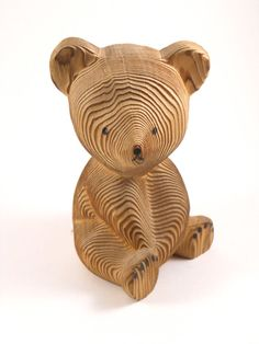 Handcarved by Kadian Crafts Wood Bear Canada by MissPattisAttic, $12.00
