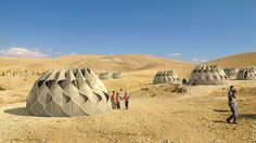 These amazing tents can collect water, fold up and harvest energy from the sun.