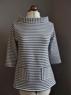 Tilly and the Buttons: Sixties Stripe Coco Tilly und die Knöpfe: Sixties Stripe Coco Tilly And The Buttons, Dress Making Patterns, Blouse Vintage, Top Pattern, Sewing Clothes, Clothing Patterns, Sewing Patterns, Blouse Designs, Cool Outfits