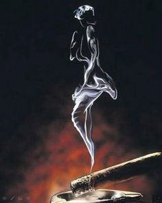 Lady in The Smoke Illusion - http://www.moillusions.com/lady-in-smoke-illusion/