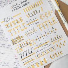 Great title and header ideas for your bullet journal or planner pages.