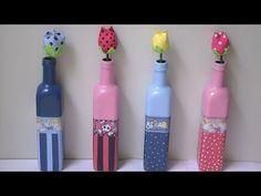 Como fazer flor de tulipa - Lembrancinha com vasinho - YouTube