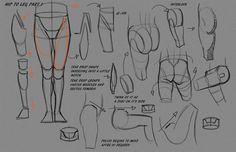 Leg Hip Notes P1 by FUNKYMONKEY1945 on deviantART via PinCG.com