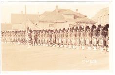 BC – VICTORIA, Blanshard Street, Seaforth Highlanders c.1916 RPPC