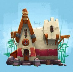 Little house on Behance