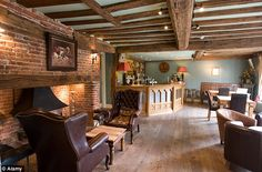 exposed brick pub bars - Google Search Flooring and wall colour