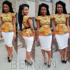 #BERNAN pleated Peplum top with high waist Pencil Skirt! Will be available for sale soon. The website will launch on April 9, 2014!!!