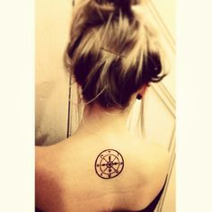 My wheel of fortune tattoo on upper back, insprired by the tarot card deck, meaning what goes around comes around. Tattoo Fixes, Wheel Of Fortune Tarot, Wheel Tattoo, Tarot Tattoo, New Tattoos, Tatoos, Tarot Card Decks, Body Modifications, Get A Tattoo